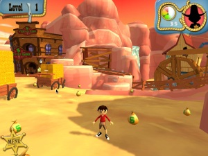 Level 1 of GhostTown Grab, where players race through exciting environments to collect gold, silver and coins.