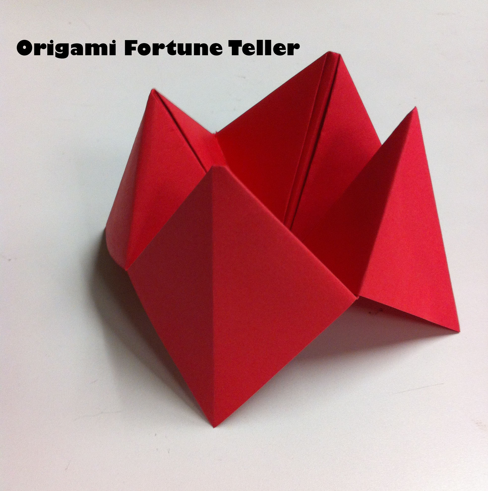 Easy Paper Craft Origami Fortune Tellers Like The One Below Are 1GJd01rx