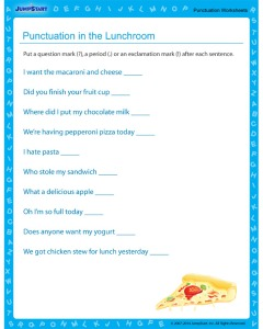 punctuation-in-the-lunchroom