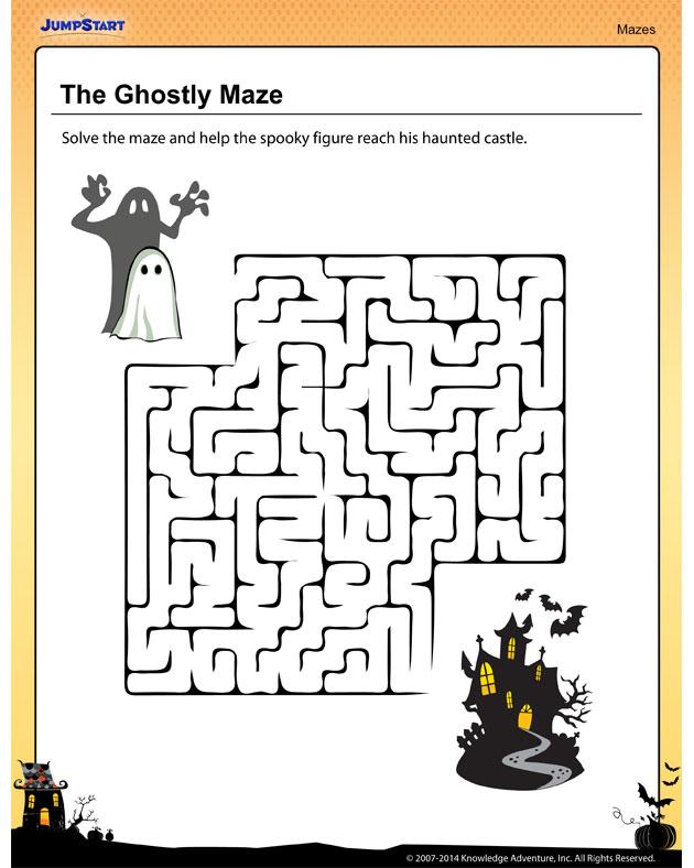 Worksheets Jumpstart Worksheets free printable worksheets the jumpstart blog worksheet of week ghostly maze
